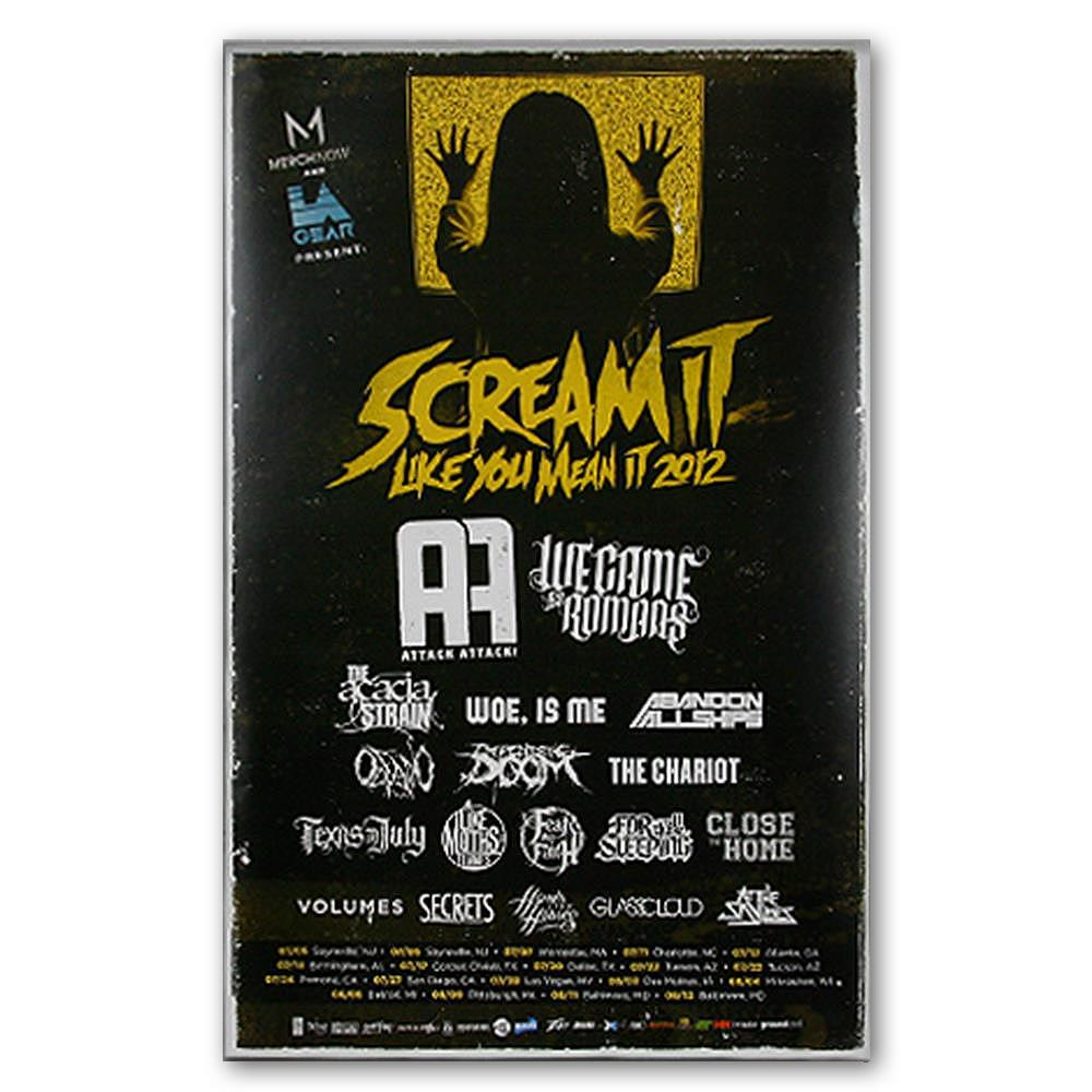 Scream It Like You Mean It 2012 Gold Tour