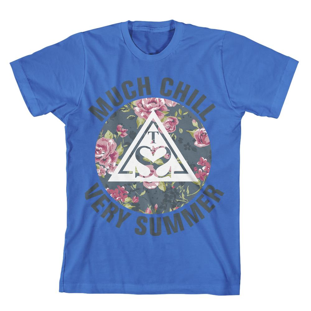 Floral Triangle Teal