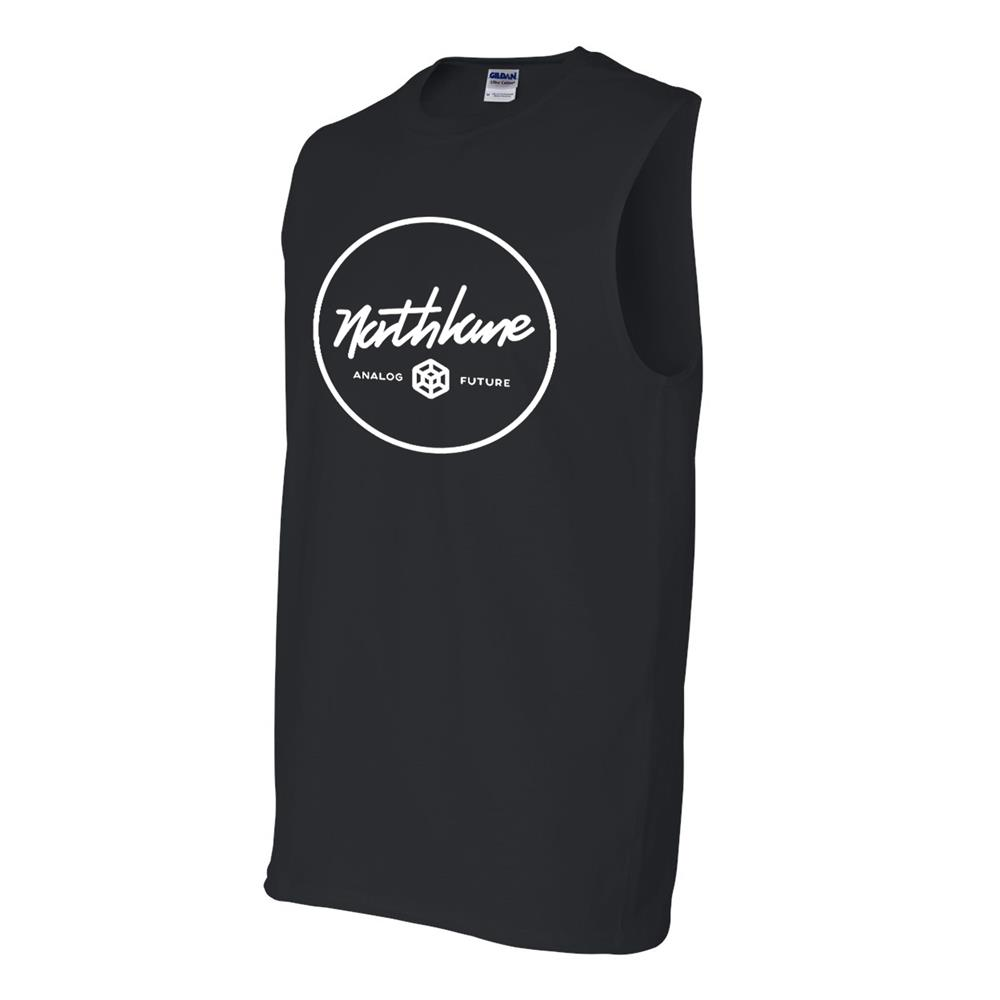 Analog Circle Sleeveless Black