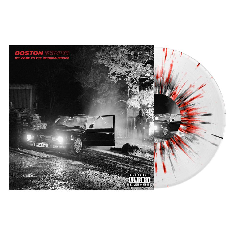 Welcome To The Neighbourhood Clear w/ Red & Black Splatter