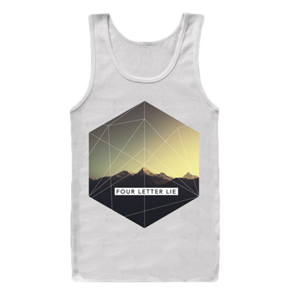 Mountains White Tank Top