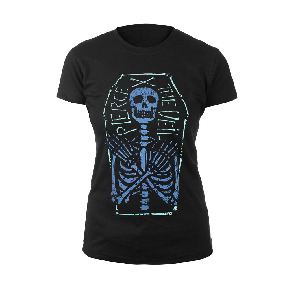 Skeleton Coffin Black Girl's T-Shirt
