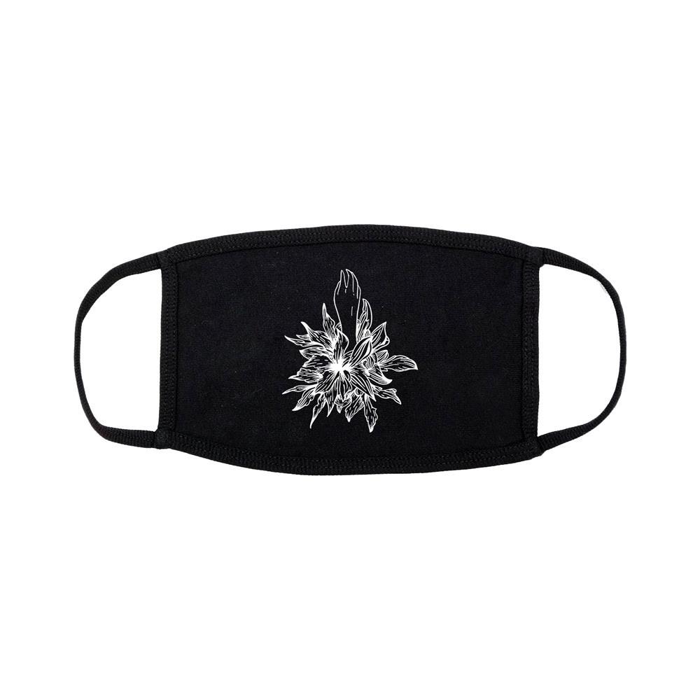 Hand Flower Black Face Mask