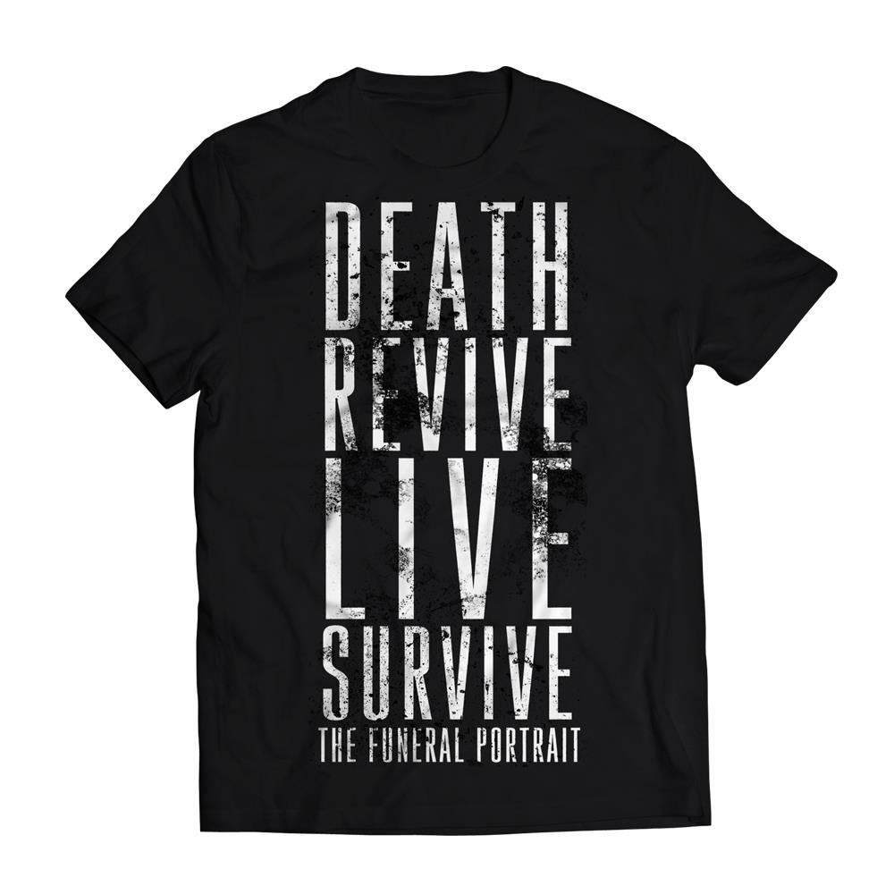 The Funeral Portrait Death Revive Live Survive Black T-Shirt
