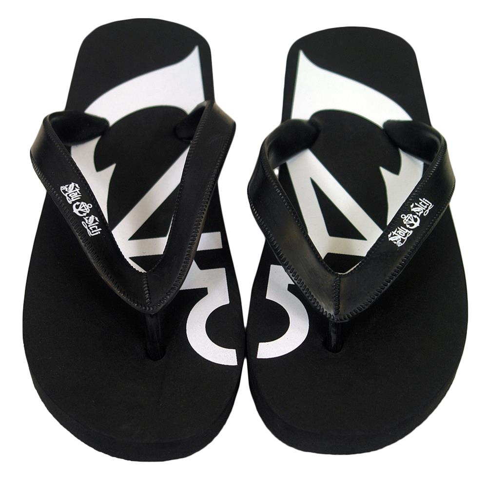 Anchor Black Flip Flops