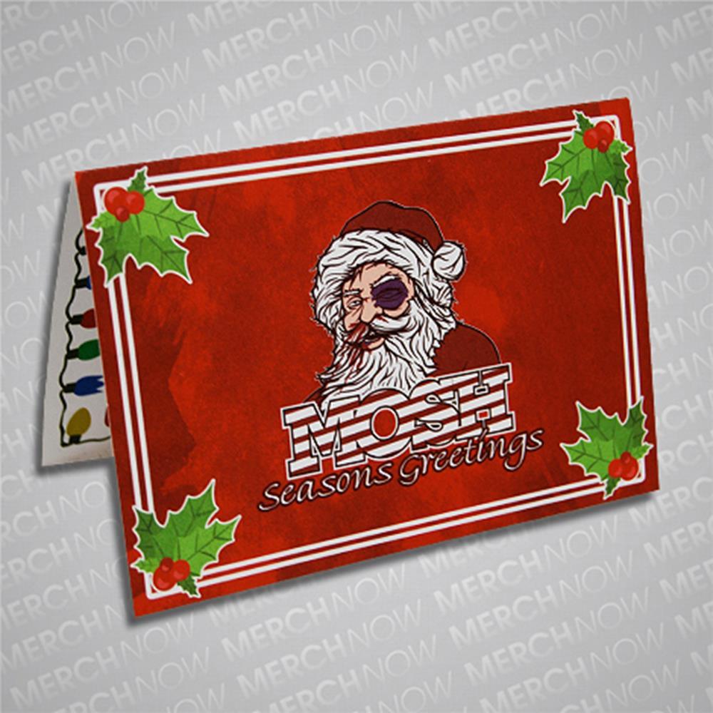 Santa Red Christmas Cards