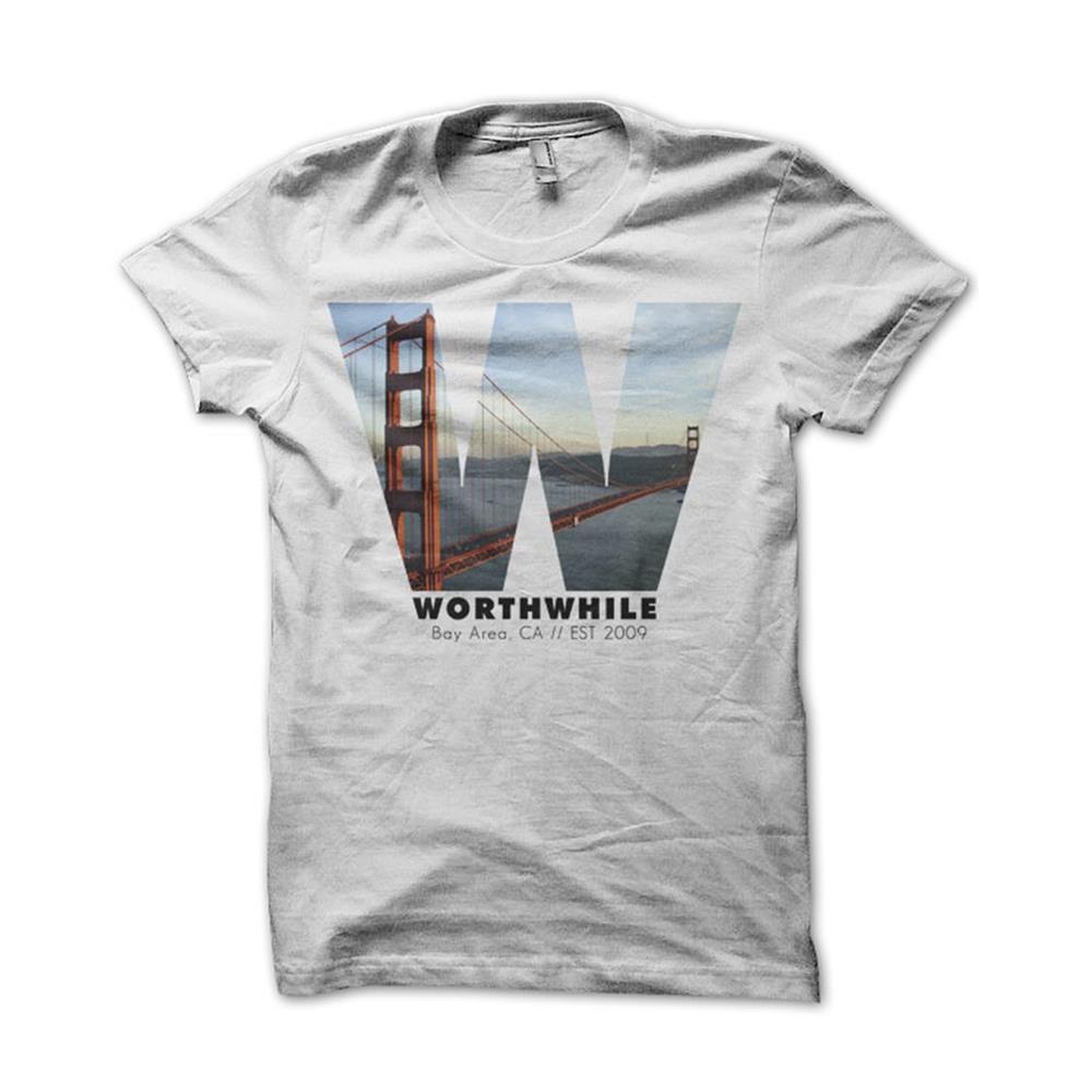 Worthwhile - Bay Area White T-Shirt