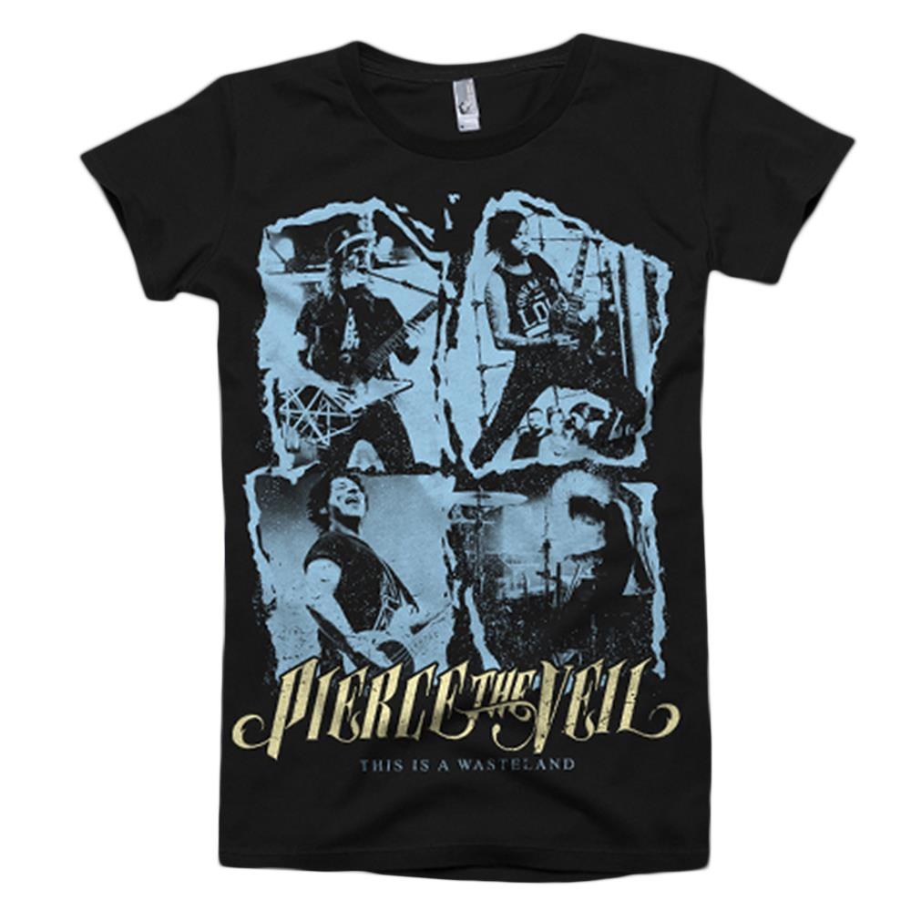 This Is A Wasteland Photo Black T-Shirt