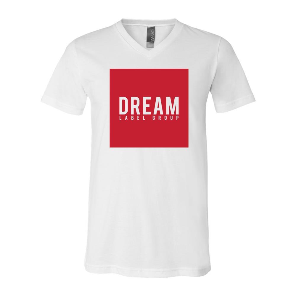 Dream Label Square V-Neck White Unisex