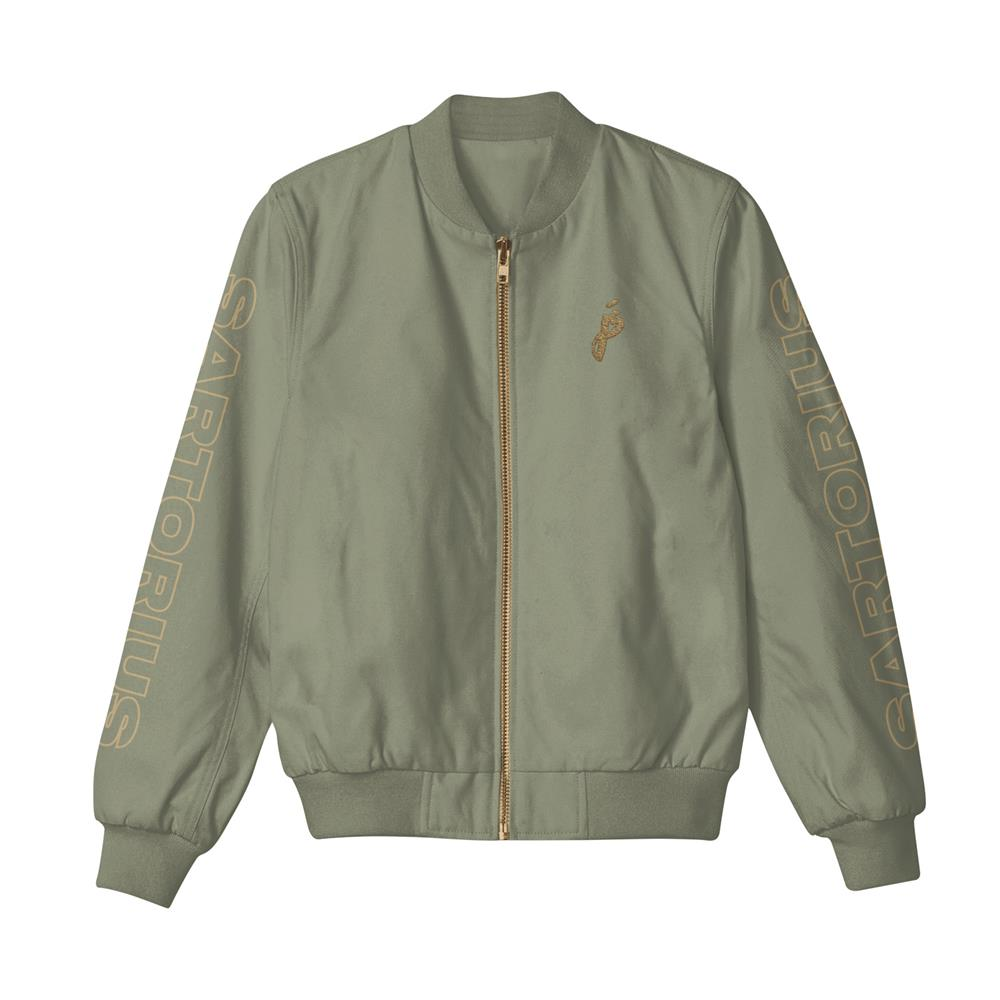 JS Logo Embroidered Military Green Bomber