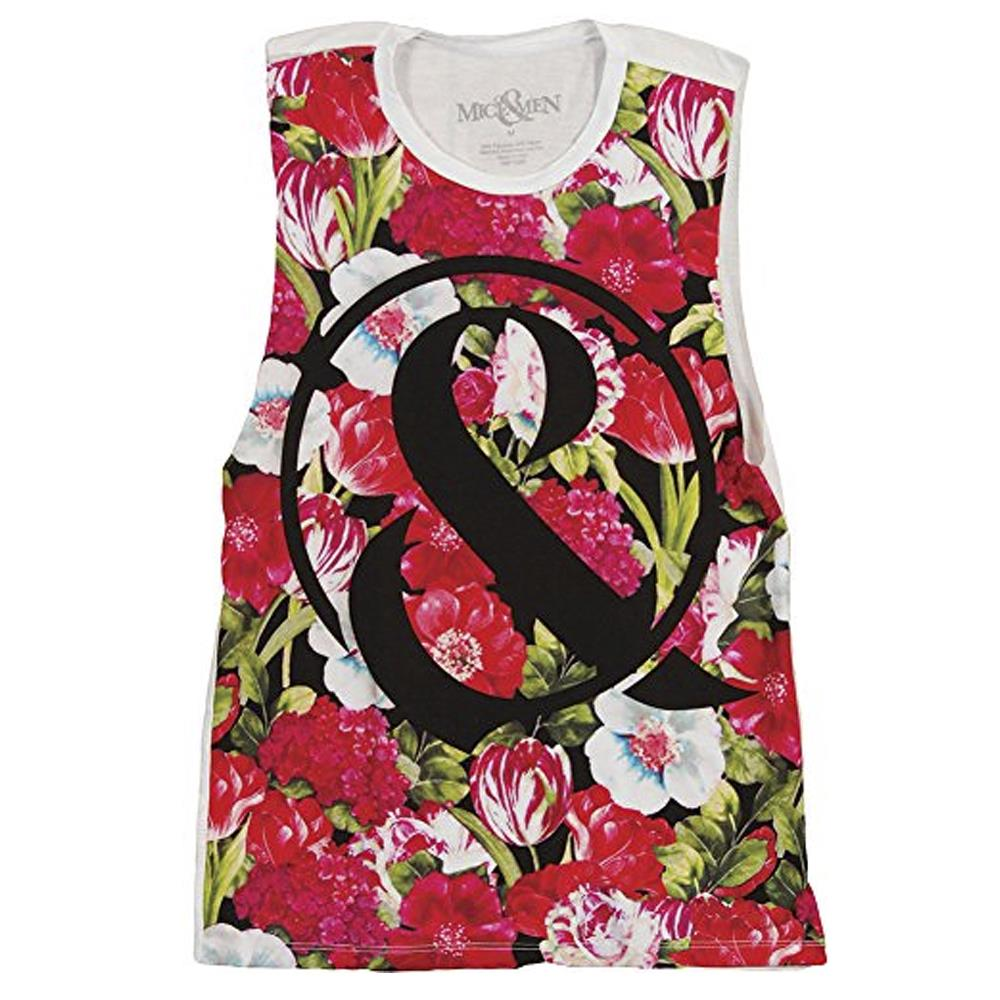 bedfb388e25e5 Floral White Women s Tank Top   MNDI   MerchNOW - Your Favorite Band ...