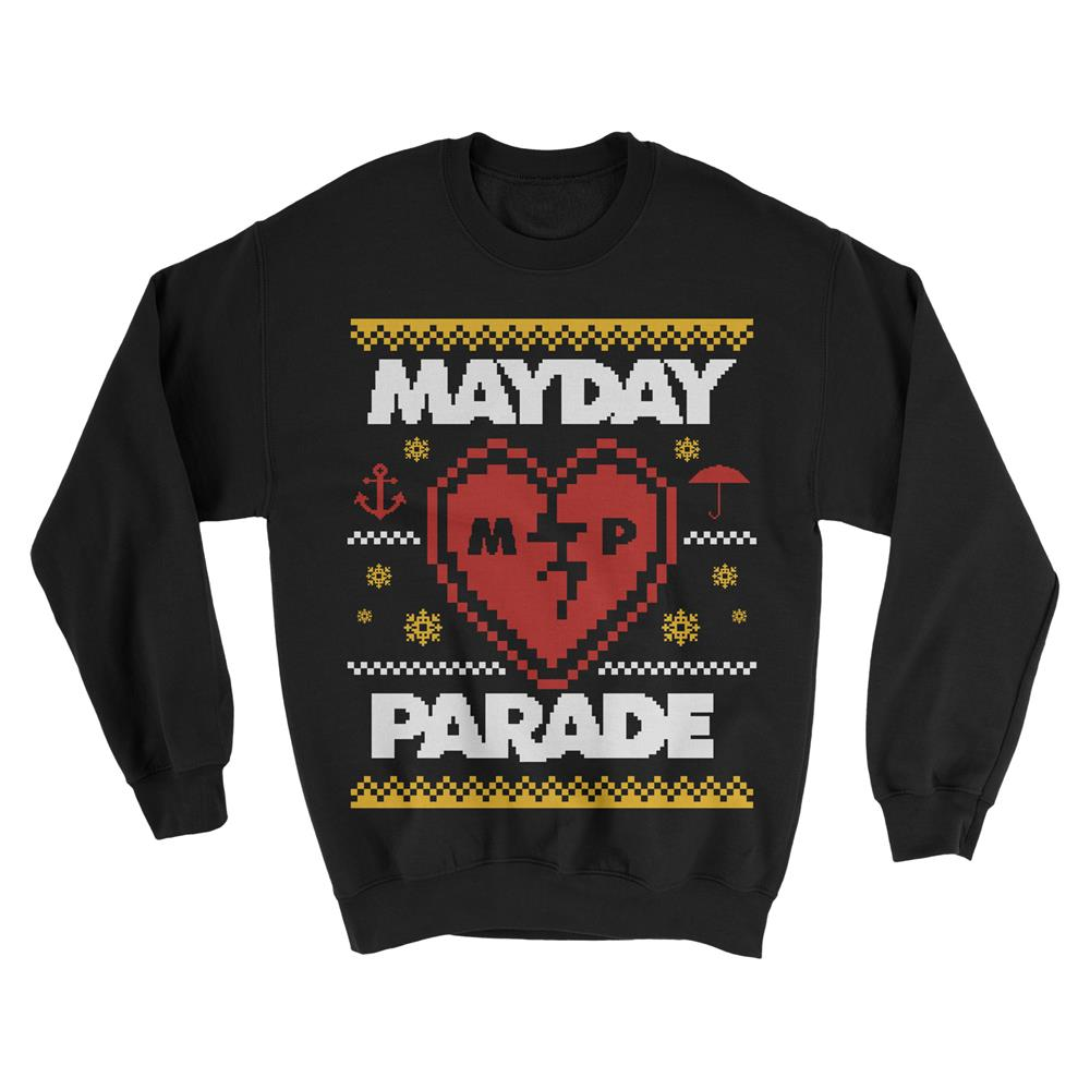 Heart Holiday Black Sweater