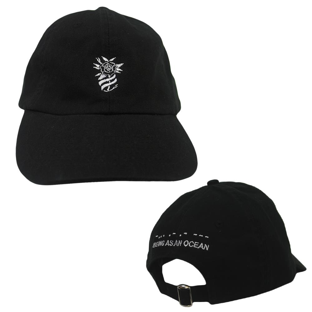 Rose Black Dad Hat