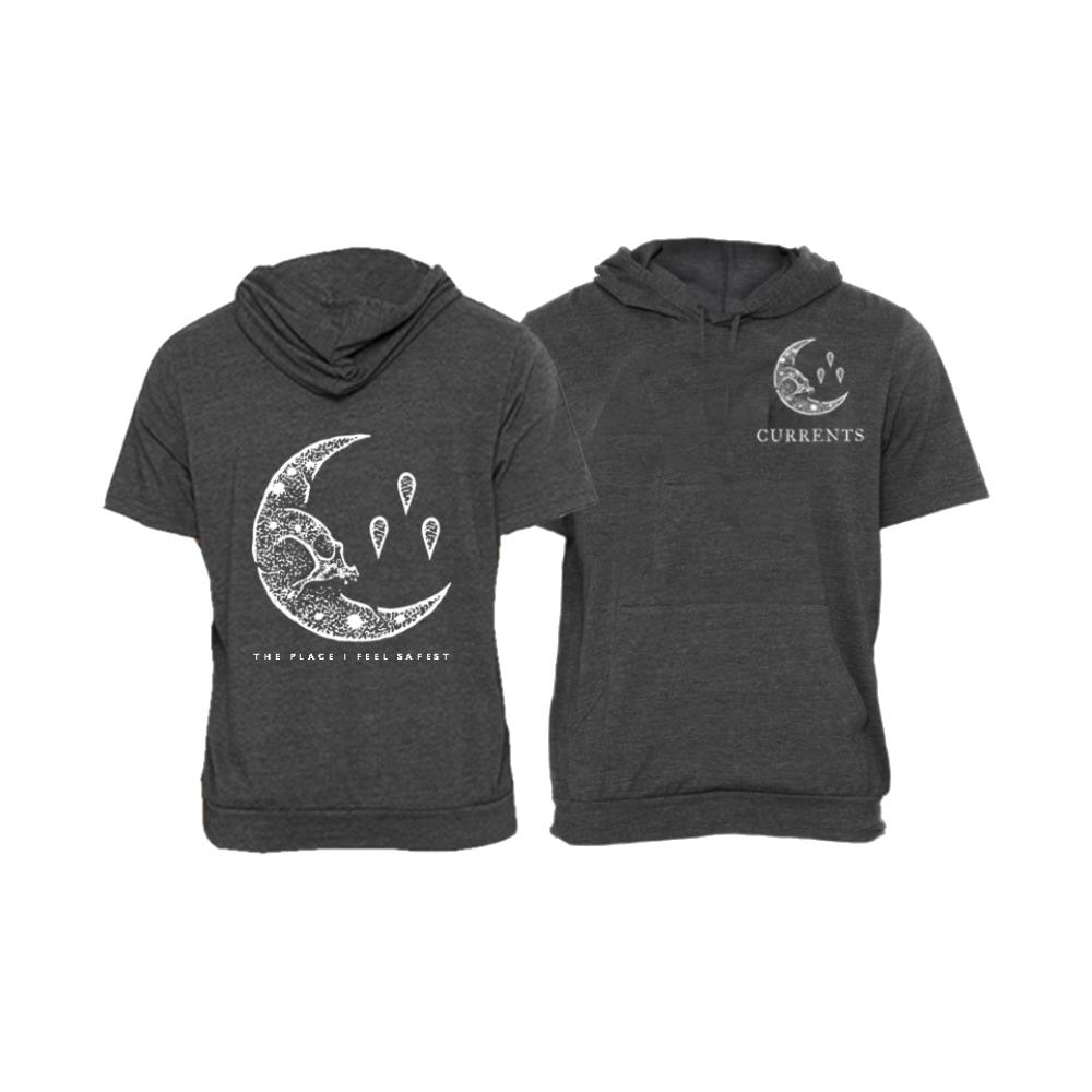 Moon Heather Grey Short Sleeve  Hoodie