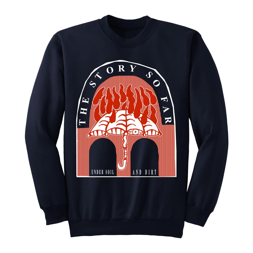 Under Soil And Dirt Navy Blue Crewneck