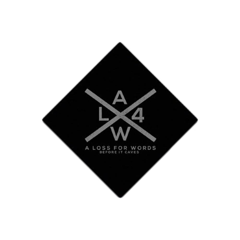 X Logo Black Sticker