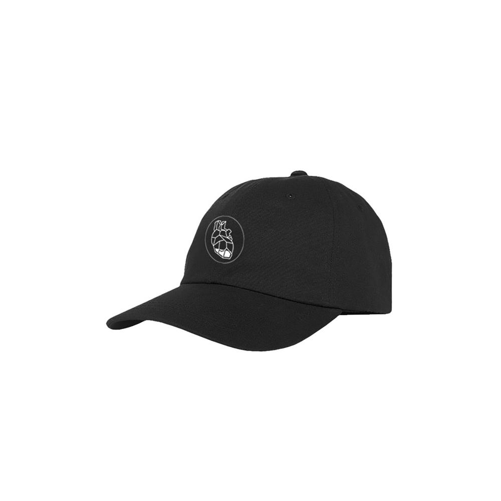 Heart Black Dad Hat