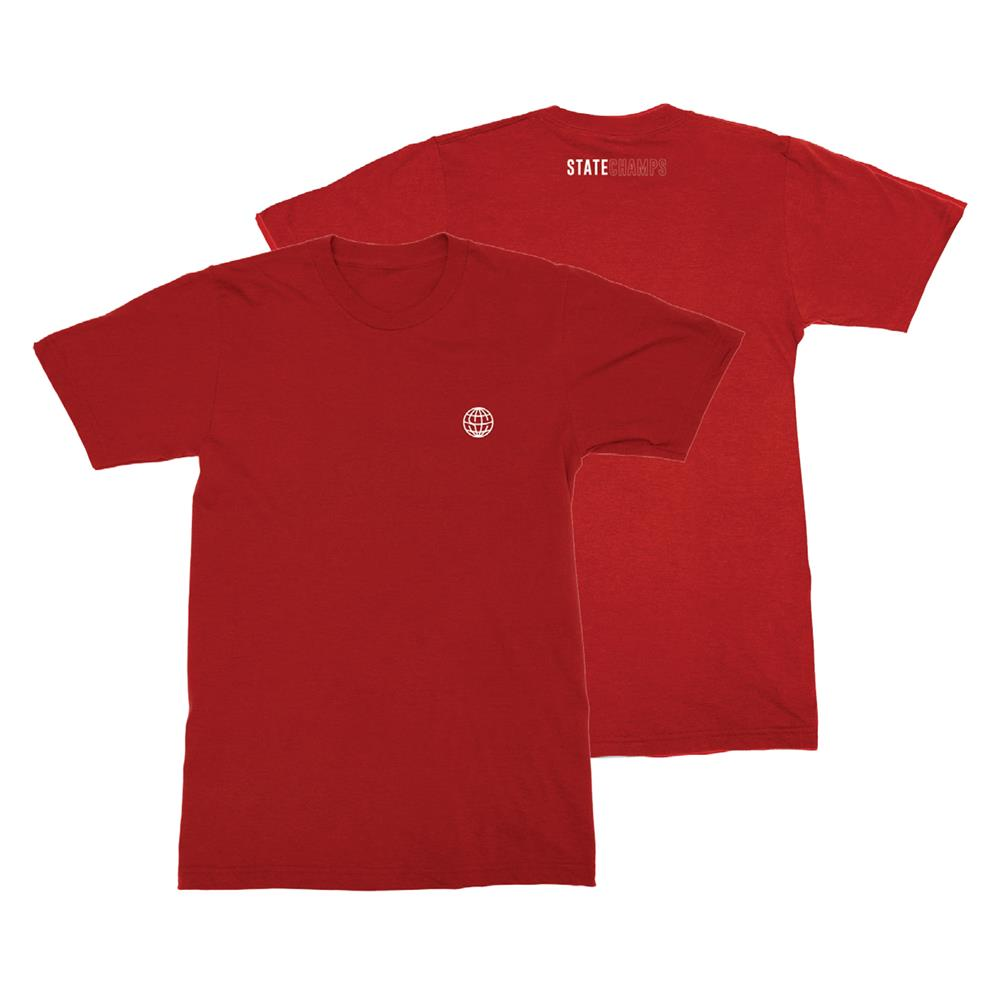 Worldwide Embroidered Heather Red