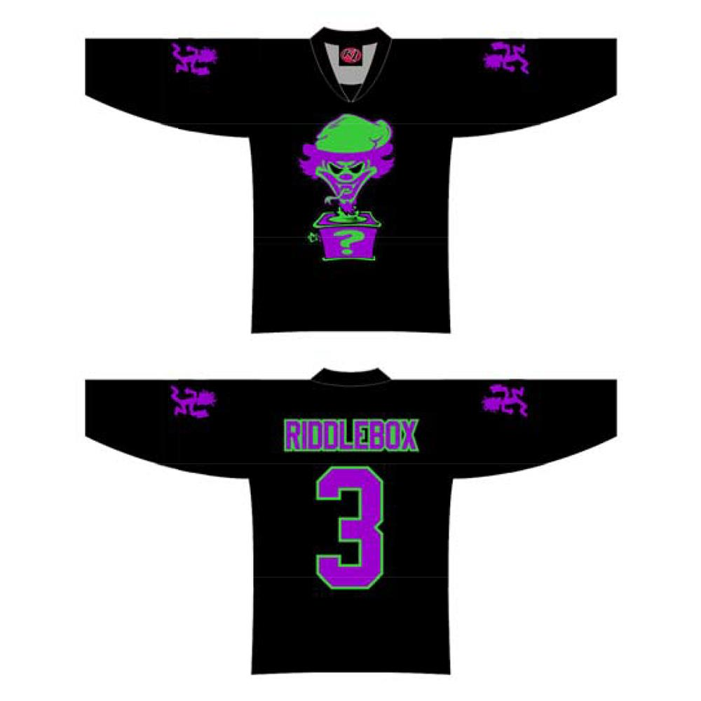 Riddlebox 3 Black Hockey Jersey