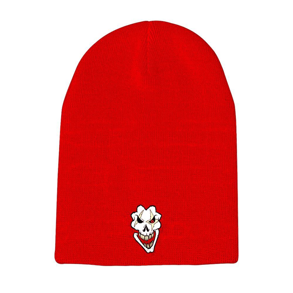 Death Pop Skull Red Winter