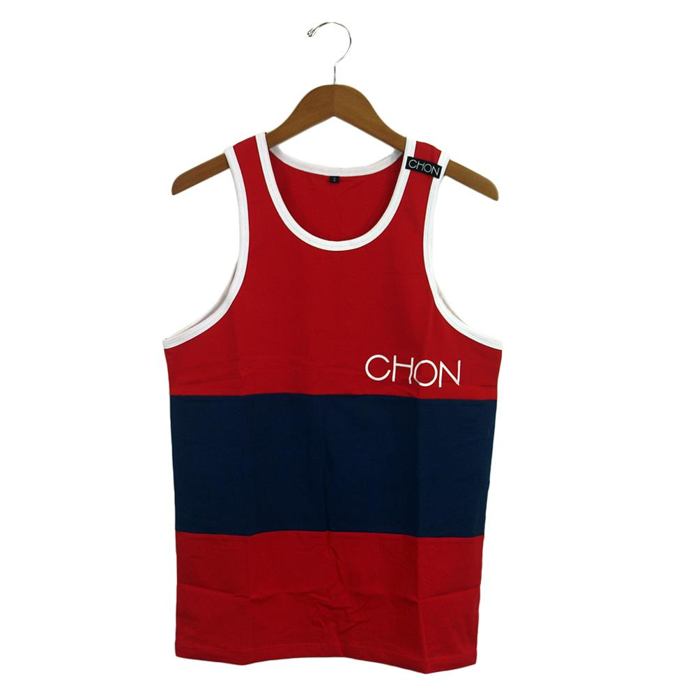 Color Block Red/Blue Custom Tank