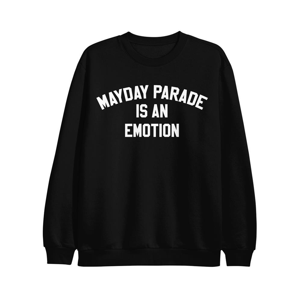 Is An Emotion Black Crewneck