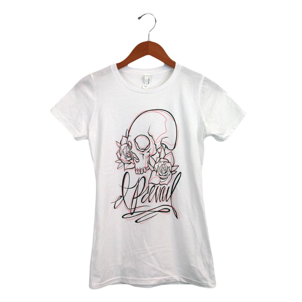 Skull White Girl's T-Shirt