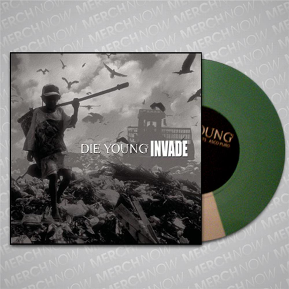 Die Young (TX)/Invade - Split Mint Green/White 7