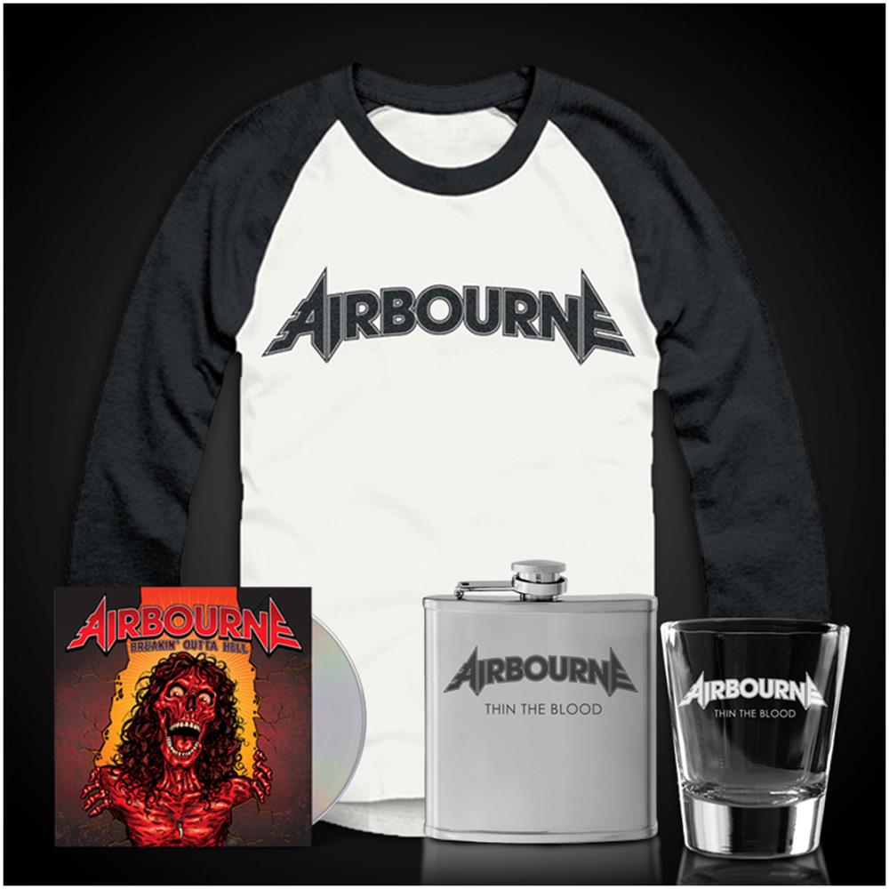 Breakin' Outta Hell CD/Baseball Tee/Flask/Shot Glass