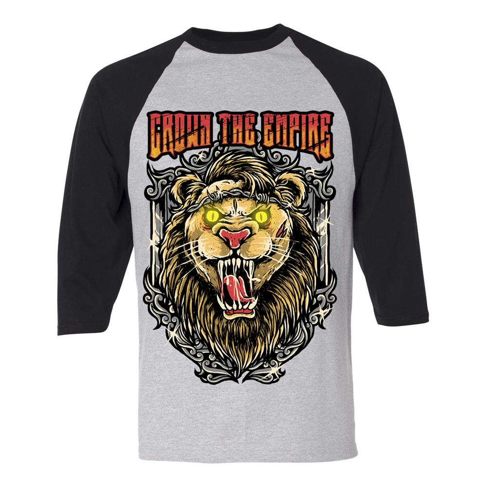 Lion Heather/Black Baseball Tee