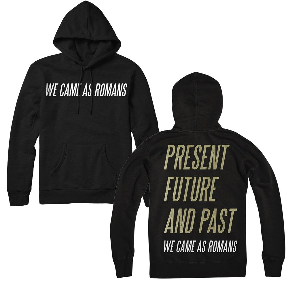 Present, Future, And Past Black Hooded Pullover