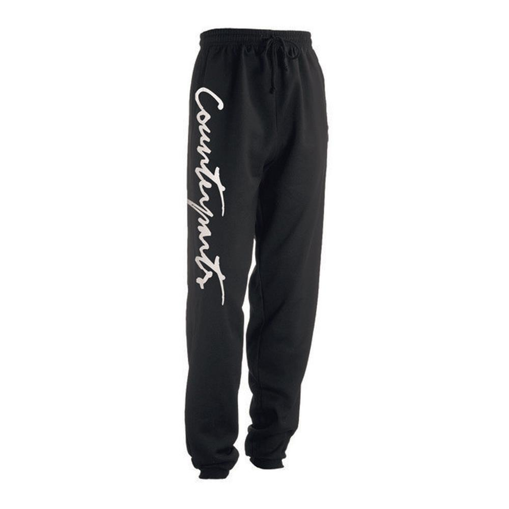 Script Black Sweatpants