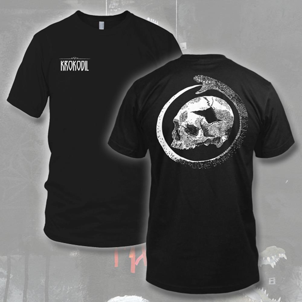 Snake Skull Black T-Shirt