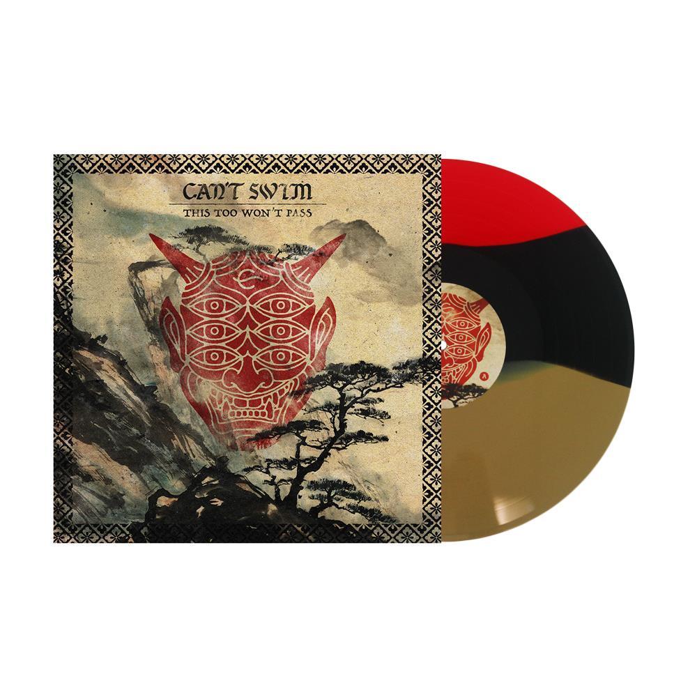 Gold/Black/Blood Red Striped Vinyl