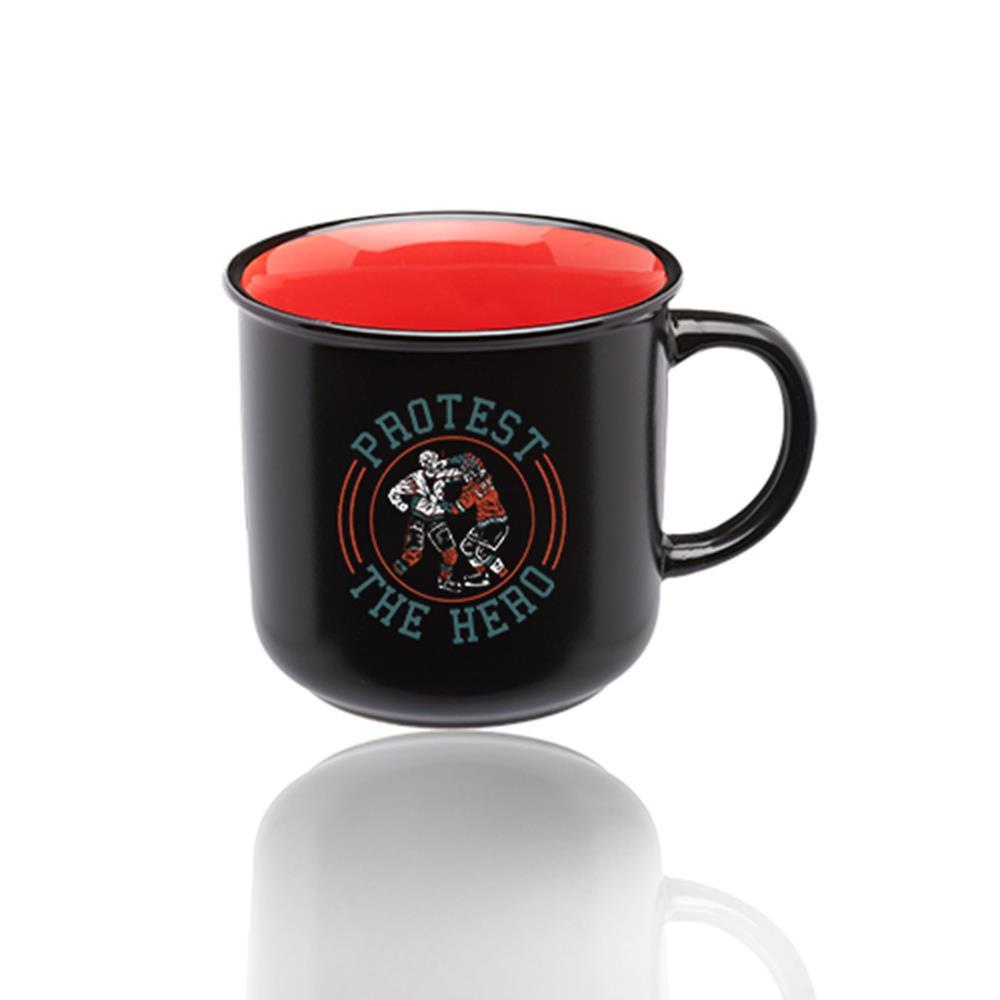 Hockey Fight Black Campfire Mug