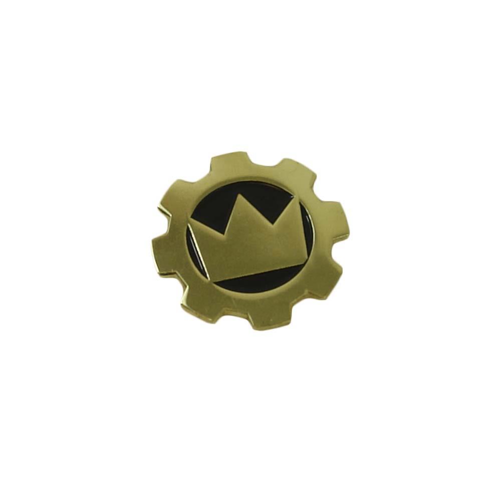 Cog Brass Enamel Pin