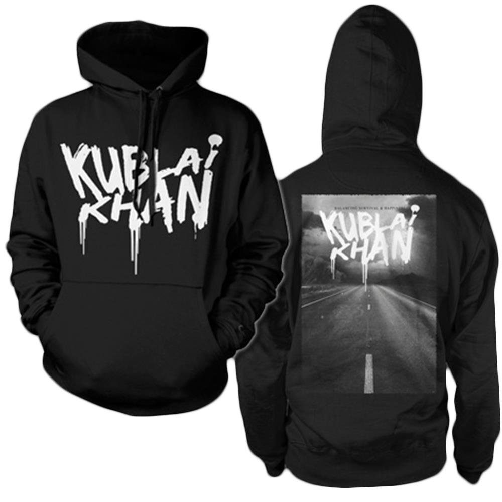 Album Art Black Hooded Pullover
