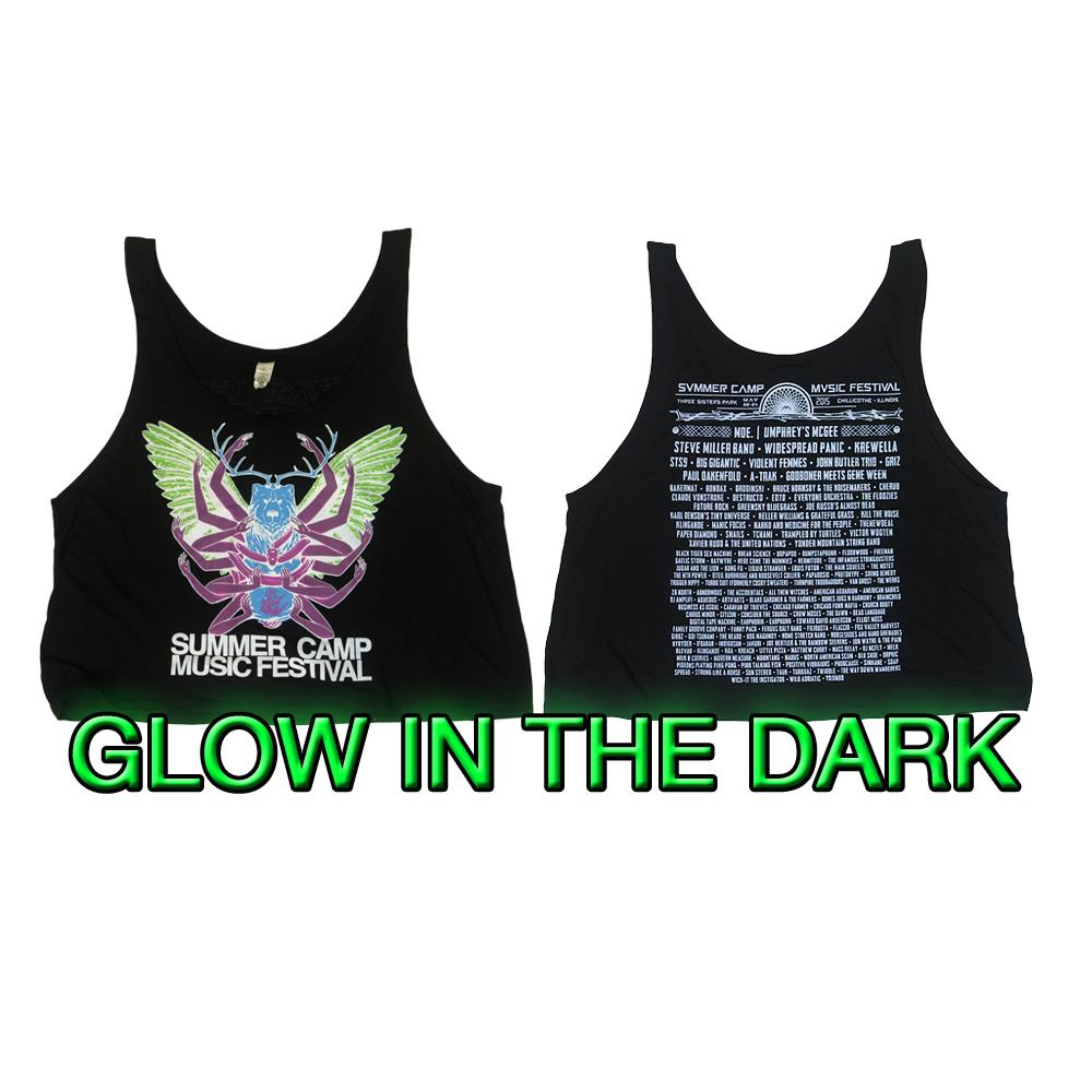 2015 Tour Glow In The Dark Black Crop Top