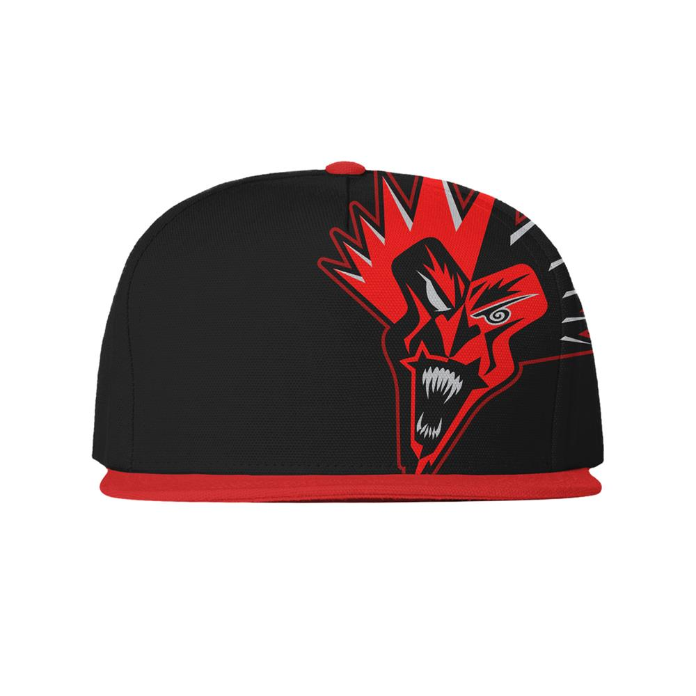 Red Fred Black Snapback