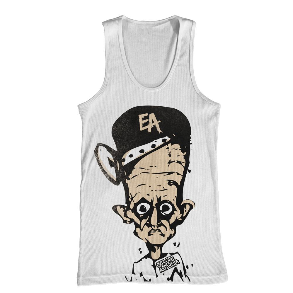 Big Head White Tank Top