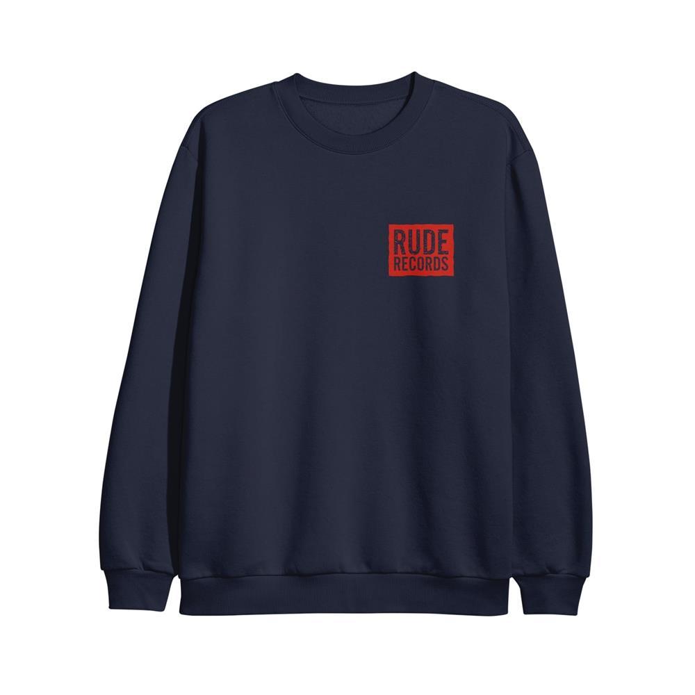 Coffin Navy Crewneck Label Merchandise