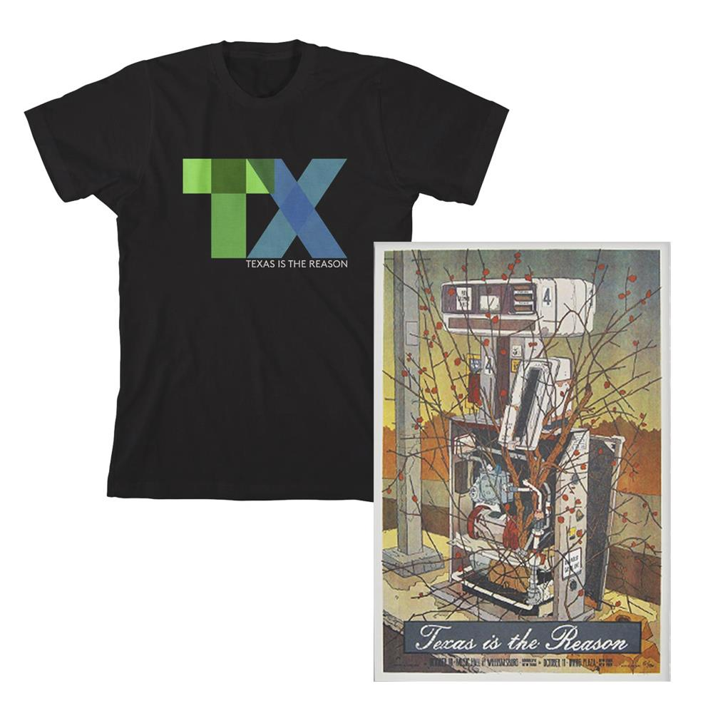 T-Shirt + Screen Printed Poster Bundle
