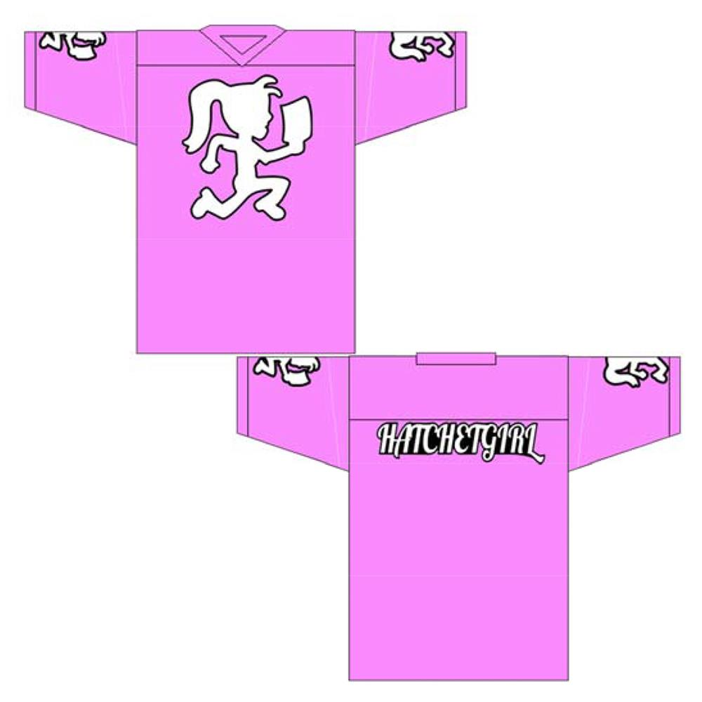 Hatchetgirl Pink Hockey Jersey