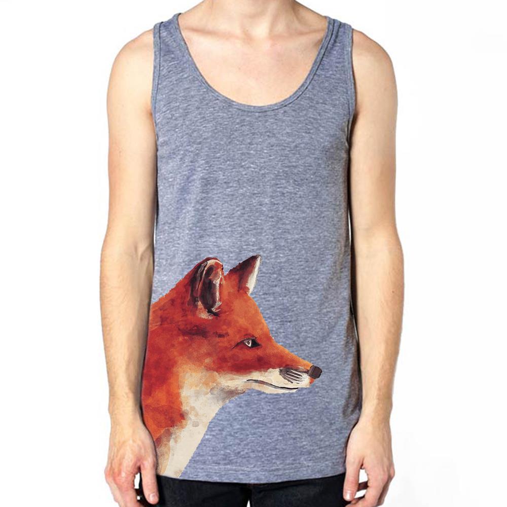 Side Fox Tri-Blend Heather Grey