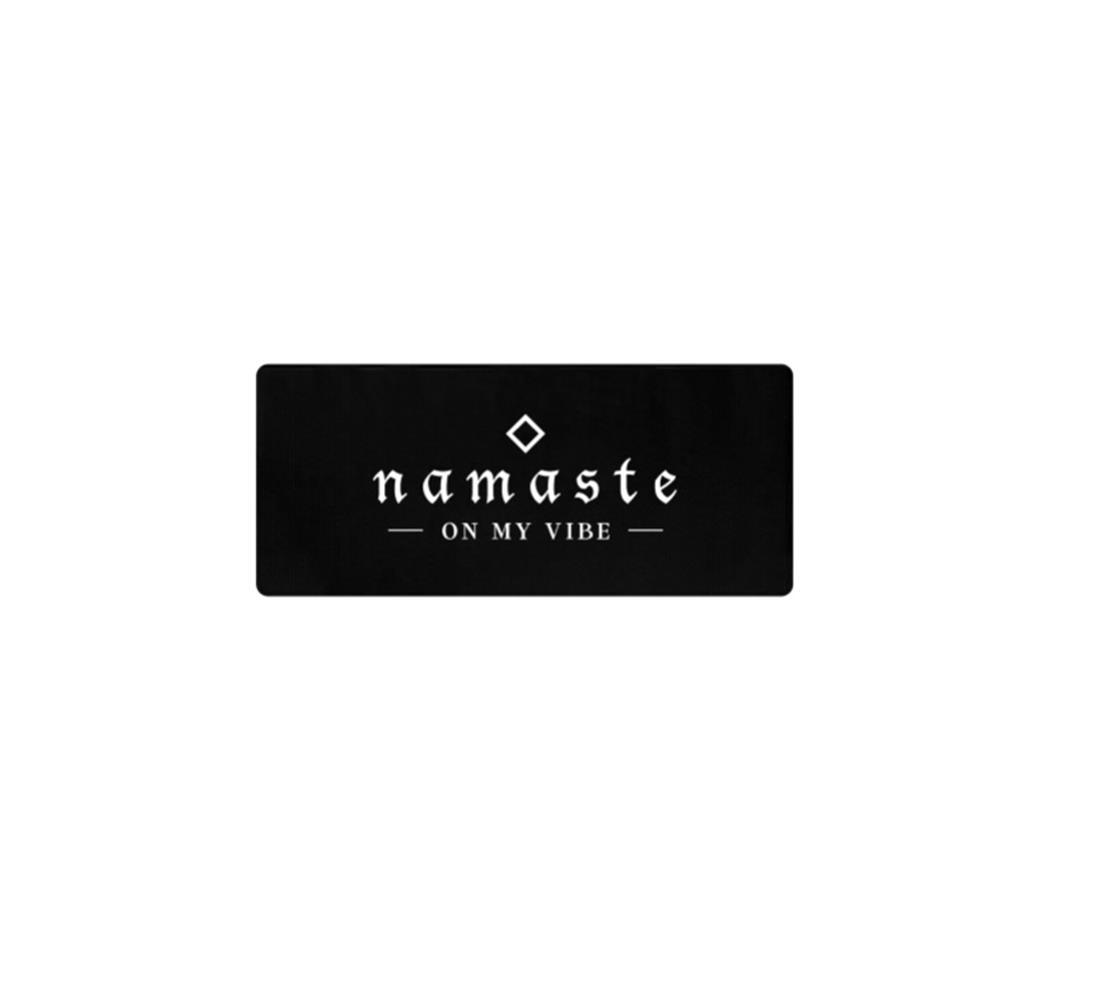 Namaste On My Vibe Black Yoga Mat
