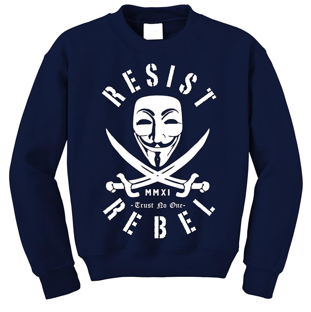 Trust No One Navy Crewneck