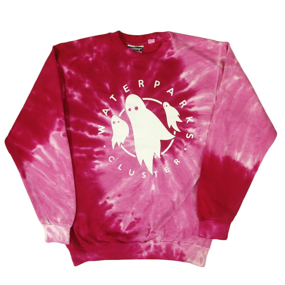 Ghost Spiral Pink Crewneck Small