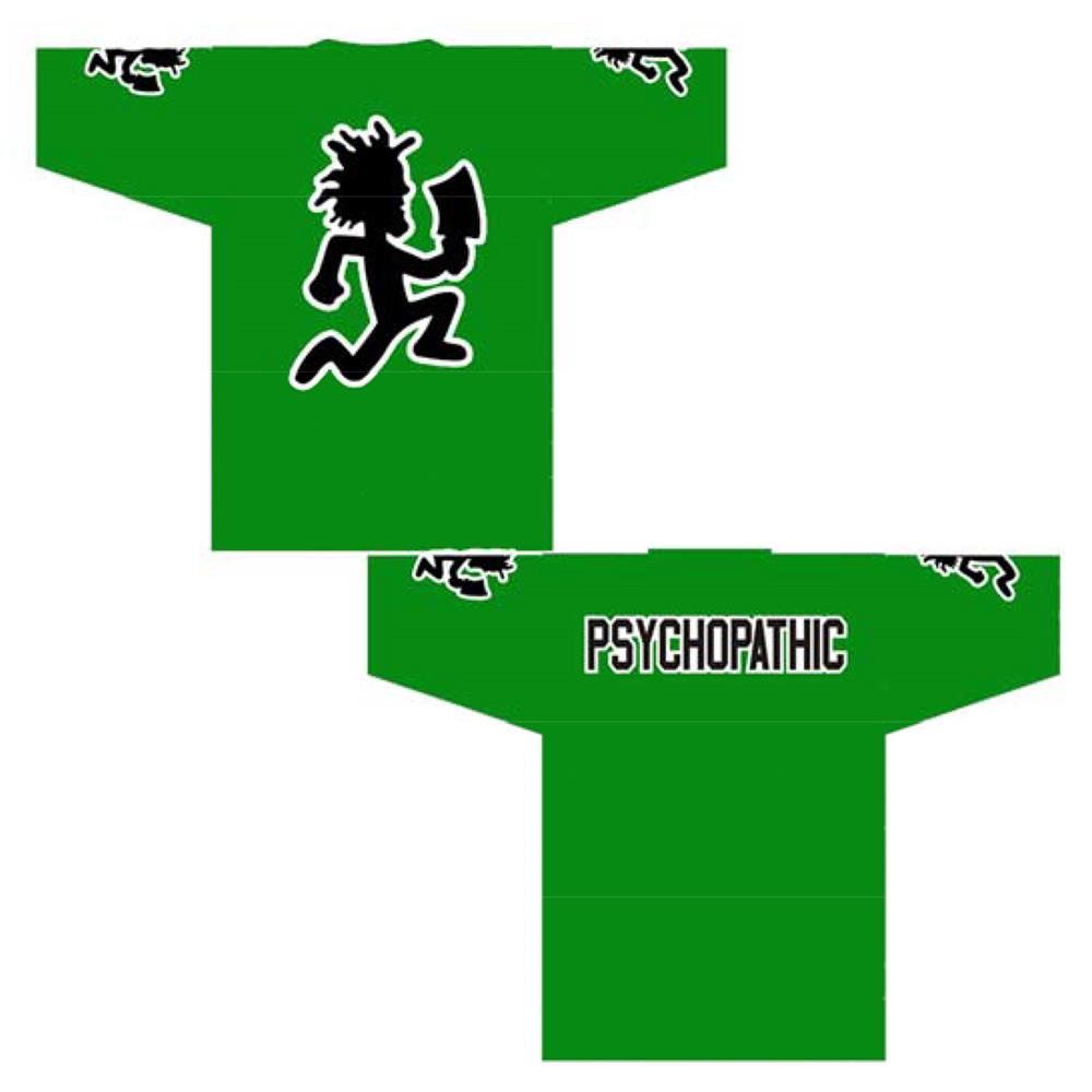 Hatchetman Psychopathic Green Football Jersey